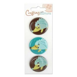 BL47.000.1209 - On Trend Hedgehog Buttons
