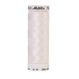 0010 - Silky White Poly Sheen Thread