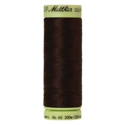 1002 - Very Dark Brown Silk Finish Cotton 60 Thread