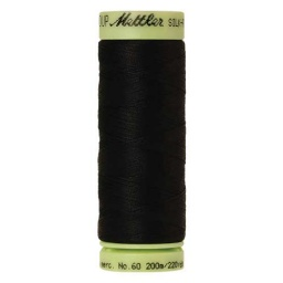 4000 - Black Silk Finish Cotton 60 Thread