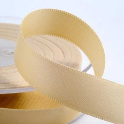 Cream Double Face Satin Ribbon