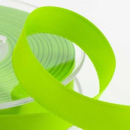 Lime Double Face Satin Ribbon