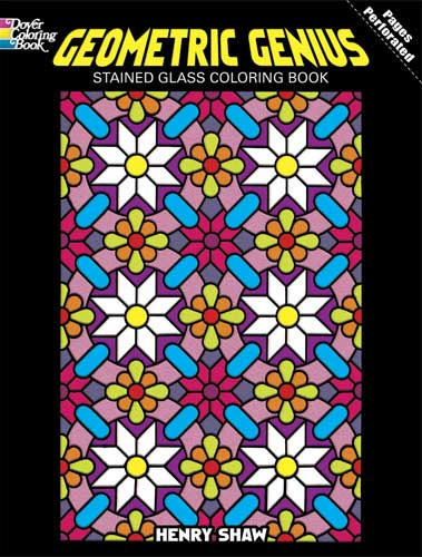 Geometric Genius Stained Glass Coloring Book - CreativeSolutionsGB.com