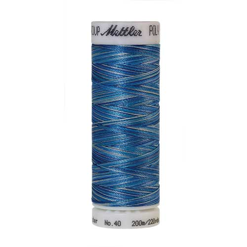9605 - Faded Denim  Poly Sheen Multi Thread