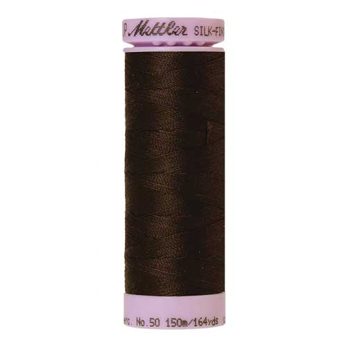 1002 - Very Dark Brown Silk Finish Cotton 50 Thread