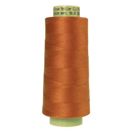 2103 - Amber Brown Silk Finish Cotton 60 Thread - Large Spool