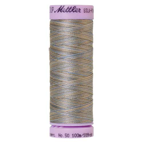 9843 - Silvery Blues  Silk Finish Cotton Multi 50 Thread