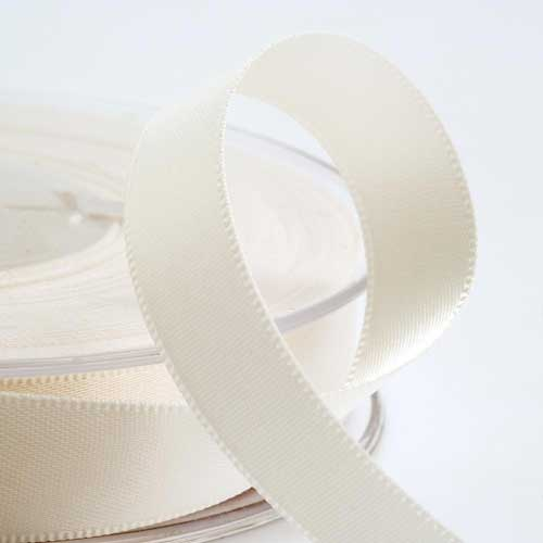 Ivory Double Face Satin Ribbon