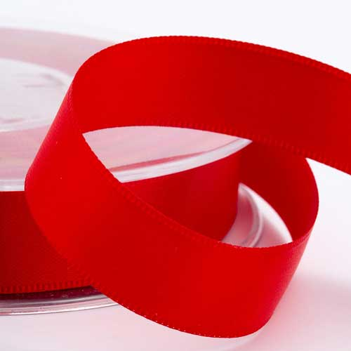 Red Double Face Satin Ribbon