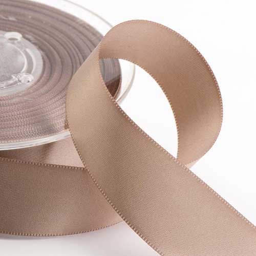 Taupe Double Face Satin Ribbon
