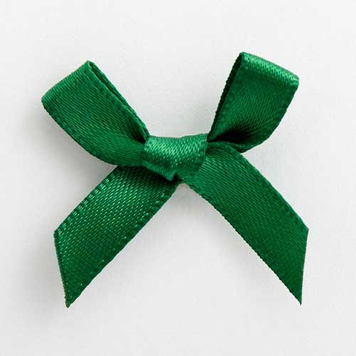 SB3T-7906 - Bottle Green Satin Bow (3cm)
