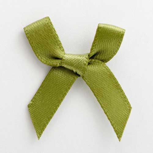 SB3T-7923 - Moss Green Satin Bow (3cm)