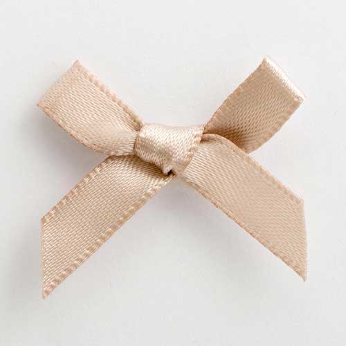 SB3T-7936 - Taupe Satin Bow (3cm)