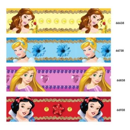 PRINCESSES05 - Disney Princesses Printed Satin Ribbon