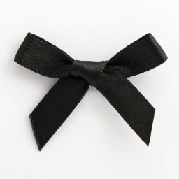 SB3T-7905 - Black Satin Bow (3cm)