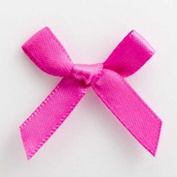 SB3T-7910 - Clover Pink Satin Bow (3cm)
