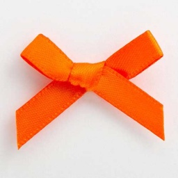 SB3T-7925 - Orange Satin Bow (3cm)