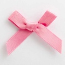 SB3T-7903 - Antique Pink Satin Bow (3cm)
