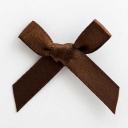 SB3T-7907 - Brown Satin Bow (3cm)