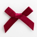 SB3T-7908 - Burgundy Satin Bow (3cm)